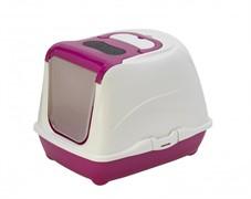 Moderna Туалет-домик Flip с угольным фильтром, 50х39х37см, ярко-розовый (Flip cat 50 cm)