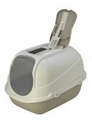 Moderna Туалет-домик Mega Comfy с совком и угольным фильтром, 65,7x49,3х47, теплый серый (mega comfy)