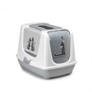 Moderna Туалет-домик Trendy cat с угольным фильтром и совком, 50х39,5х37,5, Влюбленные коты