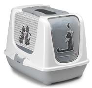 Moderna Туалет-домик Trendy cat с угольным фильтром и совком, 57х45х43, Влюбленные коты