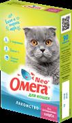 Омега Neo+ Лакомство мультивитаминное д/кастрированных кошек с L-карнитином