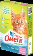 Омега Neo+ Лакомство мультивитаминное д/котят Веселый малыш с пребиотиком и таурином