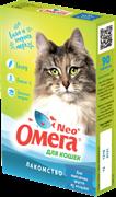Омега Neo+ Лакомство мультивитаминное д/кошек для выведения шерсти из желудка с солодом