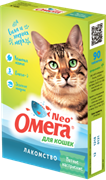 Омега Neo+ Лакомство мультивитаминное д/кошек Мятное настроение с кошачьей мятой
