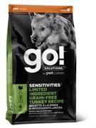 GO! NATURAL HOLISTIC Беззерновой для щенков и собак с индейкой для чувствительного пищеварения, Sensitivity + Shine Turkey Dog Recipe, Grain Free, Potato Free
