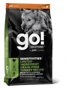 GO!  Корм для собак GO! Sensitivity + Shine индейка 9,98 кг