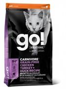 GO! NATURAL HOLISTIC Беззерновой для котят и кошек 4 вида мяса: курица, индейка, утка и лосось, Fit + Free Grain Free Chicken, Turkey, Duck Cat Recipe