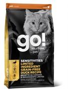 GO! NATURAL HOLISTIC Беззерновой для котят и кошек с чувствительным пищеварением со свежей уткой, Sensitivity + Shine Grain Free Duck Cat Recipe