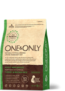 ONE&ONLY Turkey & Rice Adult MINI Breed Индейка с рисом для взрослых собак мелких пород 3 кг