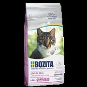 BOZITA Корм Bozita для взрослых и растущих кошек для здоровой кожи и блестящей шерсти, с лососем, Hair & Skin Wheat Free Salmon 30/15