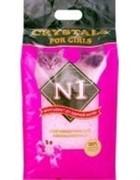 N1 Силикагелевый наполнитель для Кошечек Розовый 30 л