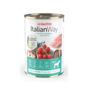 Italian Way консервы безглютеновые, для собак всех пород: профилактика аллергии, форель и черника