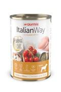 Italian Way консервы безглютеновые, для собак всех пород, с курицей,томатами и рисом