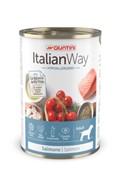 Italian Way консервы безглютеновые, для собак всех пород с чувствительной кожей, с лососем, томатами и рисом