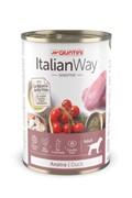 Italian Way консервы безглютеновые, для собак всех пород с чувствительным пищеварением, с уткой, томатами и картофелем, Sensitive Duck