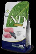 FARMINA N&D GF Сухой беззерновой корм для взрослых кошек с ягненком и черникой Adult Cat Lamb&Blueberry (5 кг)