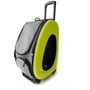Ibiyaya складная сумка-тележка 3 в 1 для собак до 8 кг (сумка, рюкзак, тележка) лайм