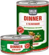Solid Natura Dinner Телятина влажный корм для котят жестяная банка