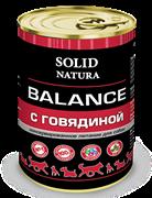 Solid Natura Balance Говядина влажный корм для собак жестяная банка