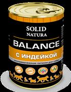 Solid Natura Balance Индейка влажный корм для собак жестяная банка