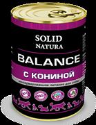 Solid Natura Balance Конина влажный корм для собак жестяная банка