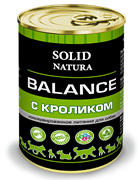 Solid Natura Balance Кролик влажный корм для собак жестяная банка