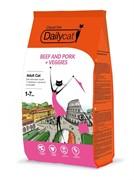 Dailycat Casual line ADULT Beef and Pork + Veggies корм для взрослых кошек с говядиной, свининой и овощами 10 кг