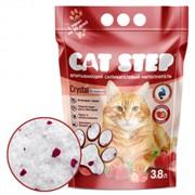CAT STEP силикагелевый с ароматом клубники 3,8 л