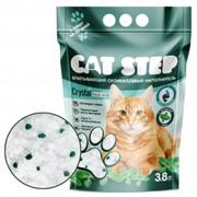 CAT STEP силикагелевый с ароматом мяты 3,8 л