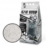 CAT STEP Compact White Carbon комкующийся 5 л