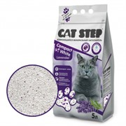 CAT STEP Compact White Lavеnder комкующийся 5 л