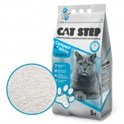 CAT STEP Compact White Original комкующийся 5 л