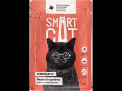 Smart Cat Паучи для взрослых кошек и котят, кусочки ГОВЯДИНЫ в нежном соусе, 85 г