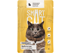 Smart Cat Паучи для взрослых кошек и котят: кусочки КУРОЧКИ в нежном соусе, 85 г