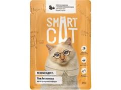 Smart Cat Паучи для взрослых кошек и котят: кусочки КУРОЧКИ с тыквой в нежном соусе, 85 г