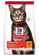 Hills Science Plan Feline  Adult Optimal Care Курица Хиллс Эдалт для кошек с Курицей 10 кг