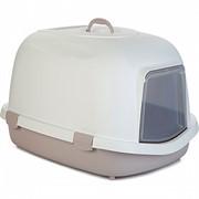 Beeztees  Queen Туалет-домик д/кошек бело-розовый 55*71*46,5см