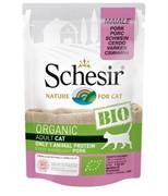 Schesir Bio Консервированный корм для взрослых кошек (со свининой)