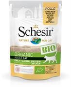 Schesir Bio Консервированный корм для взрослых кошек (с курицей)