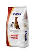"""Сухой корм Sirius (Сириус) """"Мясной рацион"""" для взрослых собак 20 кг"""