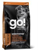 GO! беззерновой, для щенков и собак со свежей олениной для чувствительного пищеварения, Sensitivities Limited Ingredient Grain-Free Venison recipe for dogs 22/12