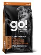 GO! беззерновой, для щенков и собак со свежей олениной для чувствительного пищеварения, Sensitivities Limited Ingredient Grain-Free Venison recipe for dogs 22/12 9,98 кг