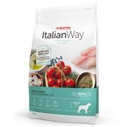 Italian Way беззерновой, для собак крупных пород, со свежей форелью и черникой, контроль веса и профилактика аллергии, Maxi Ideal Weight Trout/Blueberry 12 кг