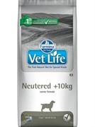 FARMINA Vet Life Dog Neutered +10kg для стерилизованных собак весом более 10кг.