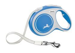 Поводок-рулетка для собак Flexi New Comfort S ленточный до 15кг, 5м, синяя
