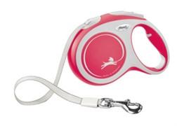 Поводок-рулетка для собак Flexi New Comfort M  ленточный 25 кг 5м , красная