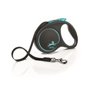 FLEXI Рулетка-ремень для собак до 15кг, 5м,   (Black Design S Tape 5m  )