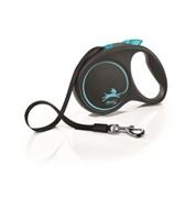 Поводок-рулетка для собак Flexi Design S ленточный до 15кг, 5м,  синяя