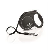Поводок-рулетка для собак Flexi Design S ленточный до 15кг, 5м, желтая