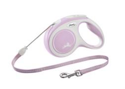 Поводок-рулетка для собак Flexi New Comfort S тросовый до 12кг, 8м, розовая
